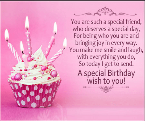 Happy birthday quotes and wishes for a friend with pictures birthday message for a special friend thecheapjerseys Choice Image