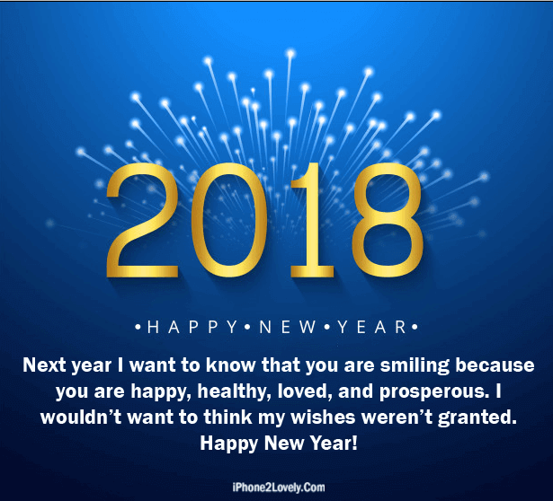 3D Style Happy New Year 2018 Love Quote Image