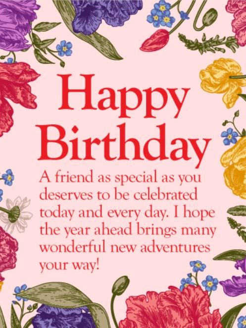 50 best happy birthday greetings to a friend quotes yard happy birthday friends greeting cards bookmarktalkfo Image collections