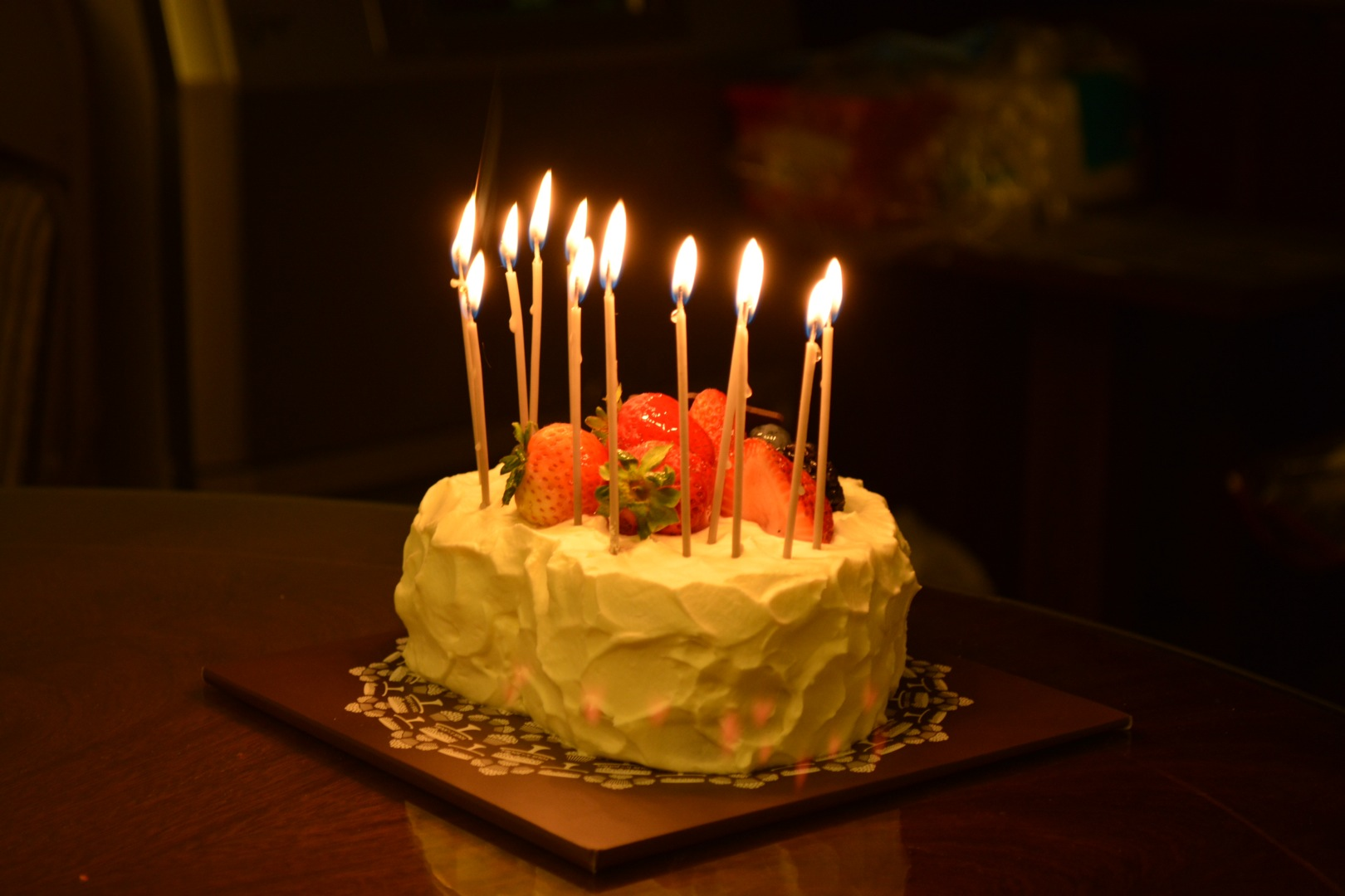 pic of birthday cake with candles