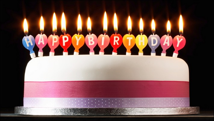 picture of birthday cake with candles