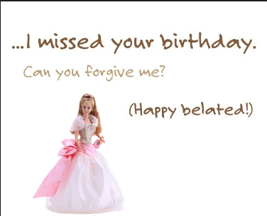 belated birthday wishes images