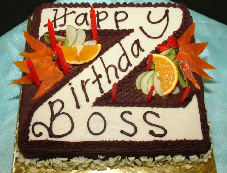 Birthday Cake Design For Boss
