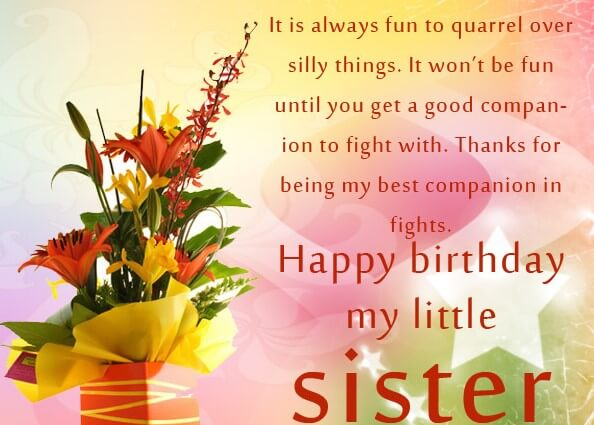 Birthday Greetings Quotes For Sister