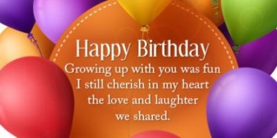 Birthday Quotes For Close Sister