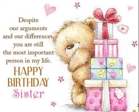Birthday Quotes For Sister From Sister