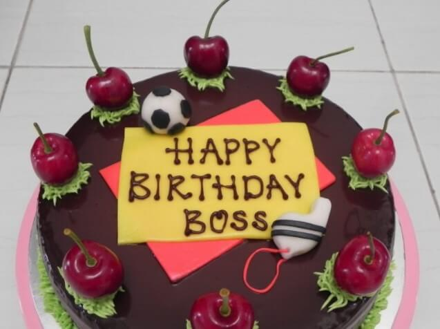Birthday Wishes For Boss With Cake