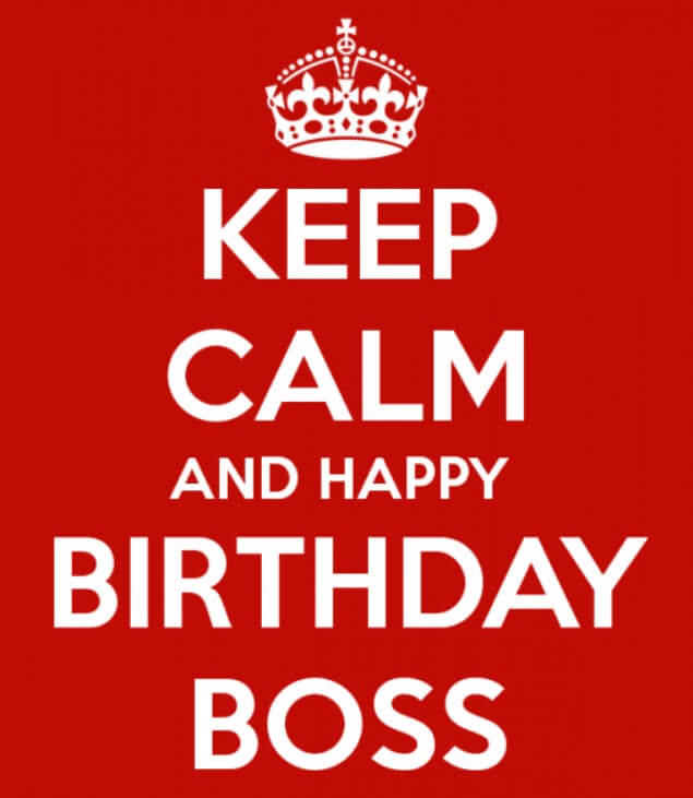 Formal Birthday Wishes For Boss