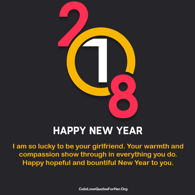 2018 New Year Love Wishes For Girlfriend To Inspire Her