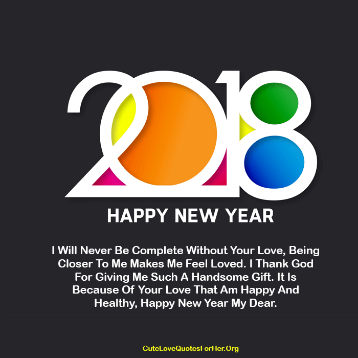 Happy New Year 2018 Love Quote For Him