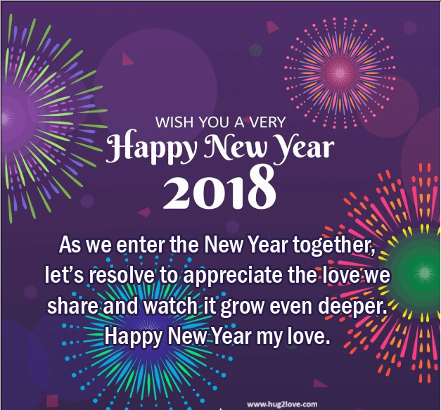 New Style 2018 Happy New Year Eve Ecard For Couple