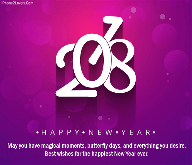 New Year 2018 Logical Romantic Saying With Love Image