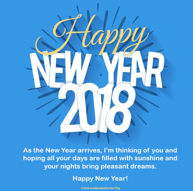 New Year 2018 Quote With Image