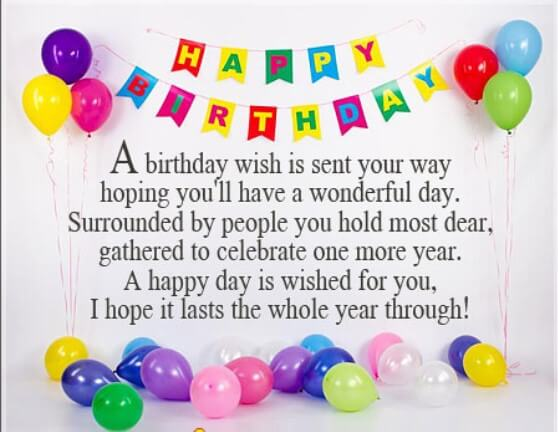 Birthday Greeting Long Message