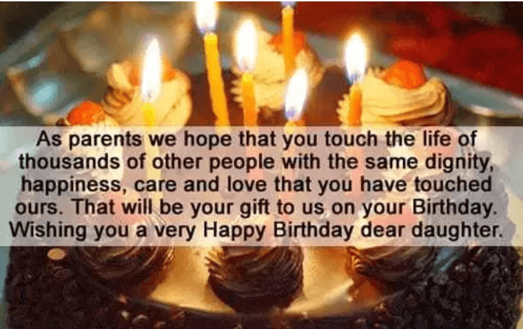 Birthday Quotes And Wishes For Daughter
