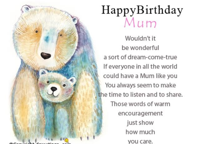 Birthday Quotes For Mom From Baby