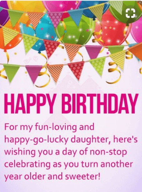 Happy Birthday Greeting Cards For A Daughter