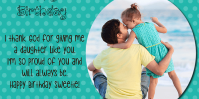 Happy Birthday Quotes For Daughter From Father