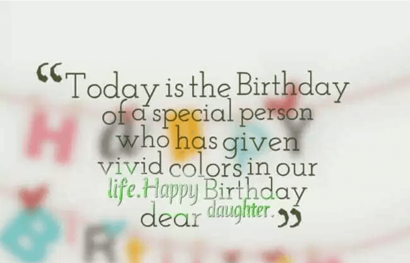 Happy Birthday Sentiments To Daughter