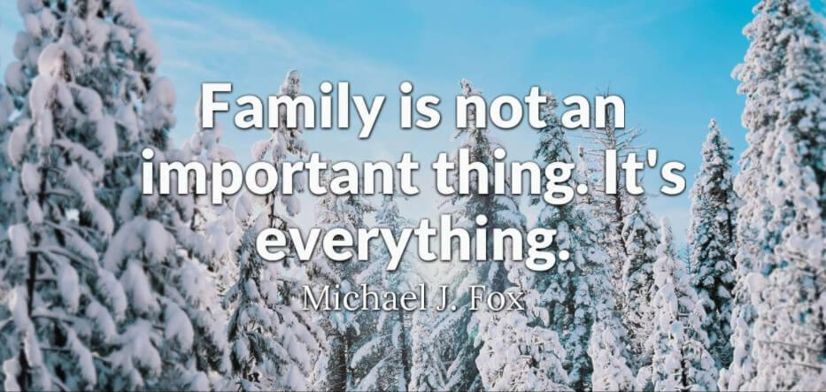winter family quotes