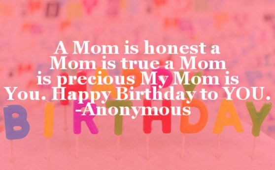 Short Birthday Quotes For Mom From Daughter