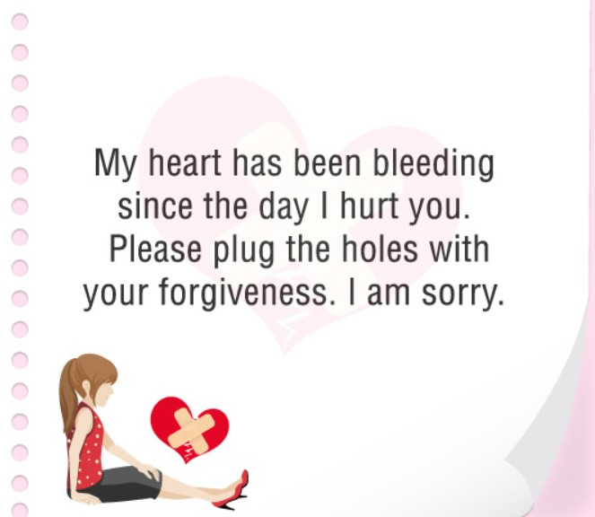 Sweet Sorry Message For Boyfriend