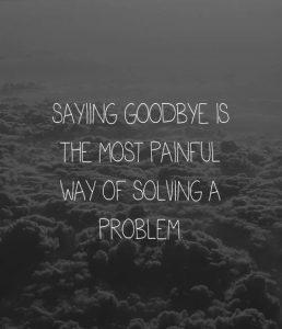 Goodbye Problem