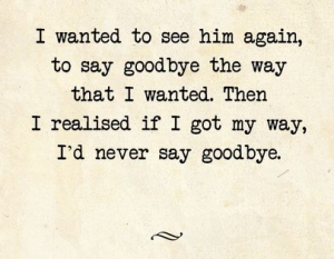 Goodbye Saying