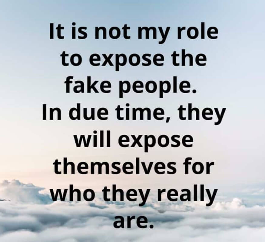 Fake People Meaning Quotes