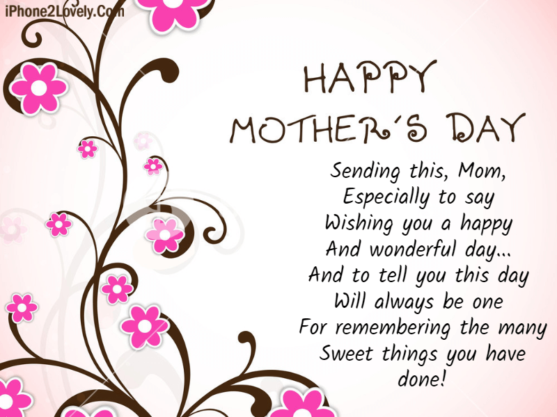 Best Happy Mothers Day Poems