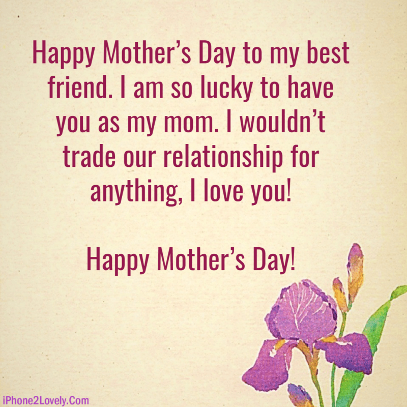 Best Friend Mothers Day Quotes WhatsApp Wishes