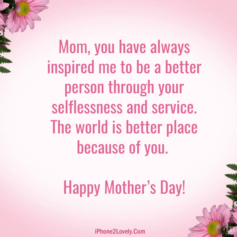 Cute Mothers Day Messages Image