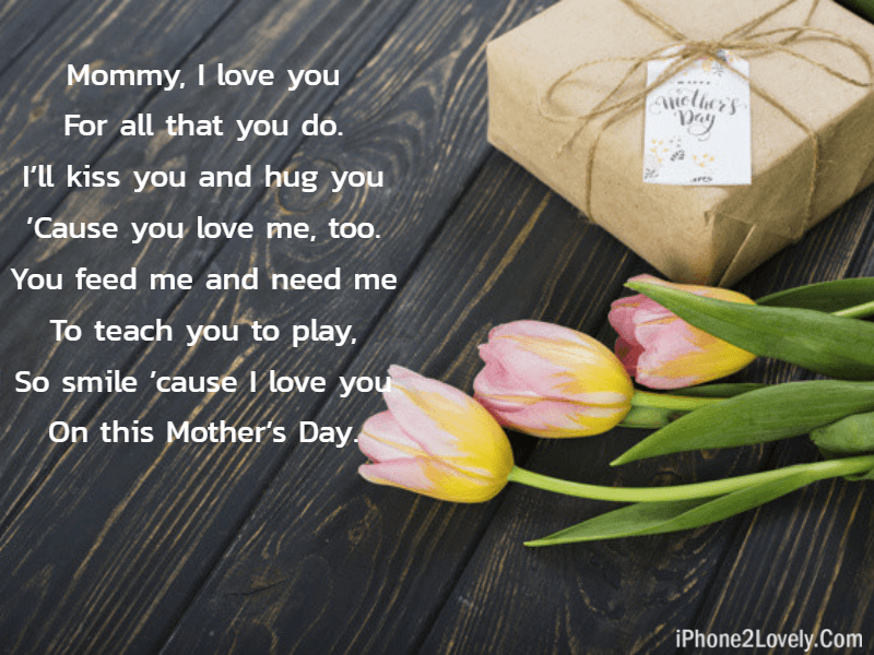 Cute Mothers Day Love Poem From Daughter Son