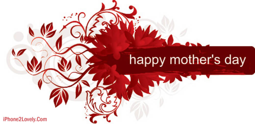 Cute Red Happy Mom Day Special Wallpaper