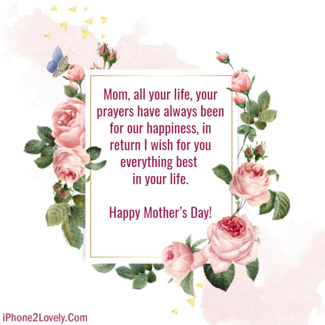 Happy Mothers Day Greeting To Write On Flowers