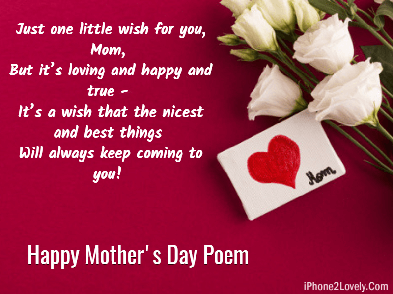 Happy Mothers Day Rhyming Poem
