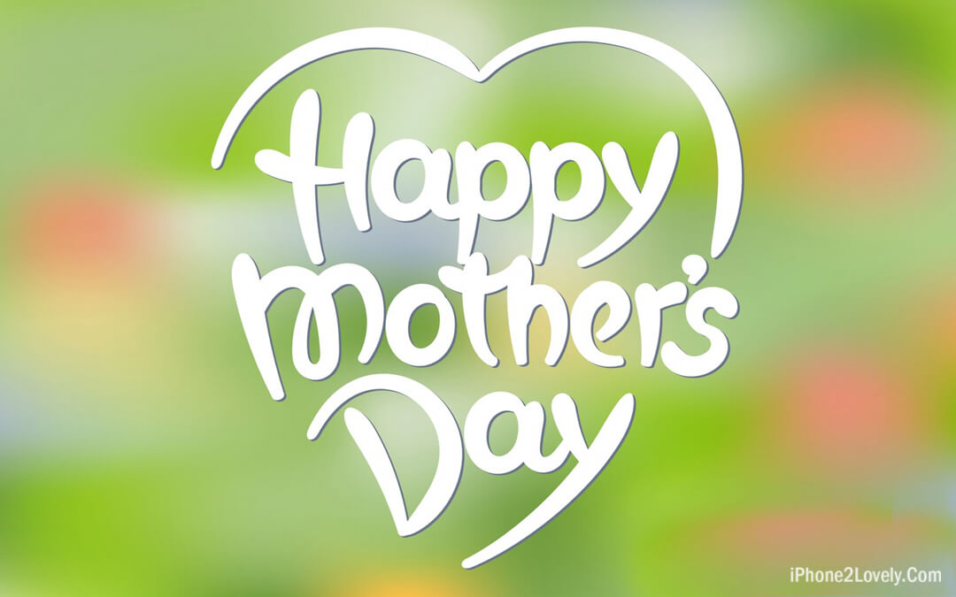 Heart Shape Mothers Day Wallpaper