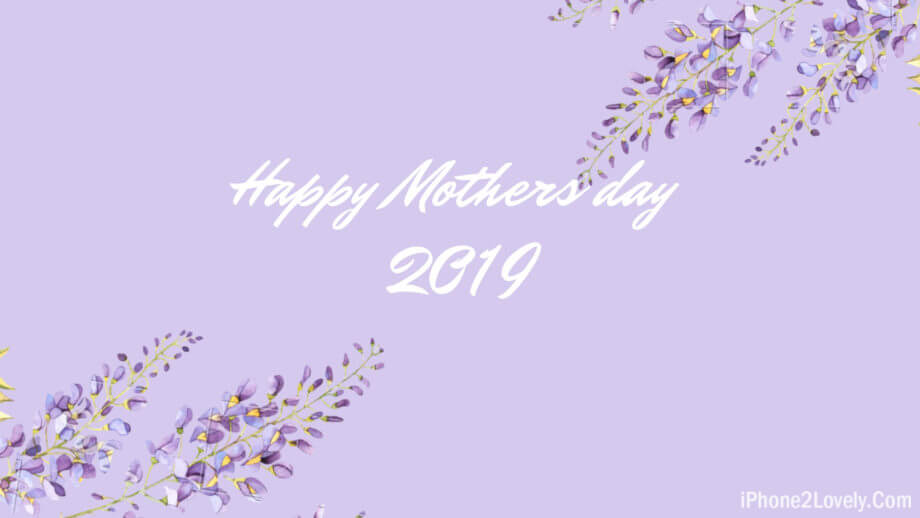 Light Simple Mothers Day Wallpaper