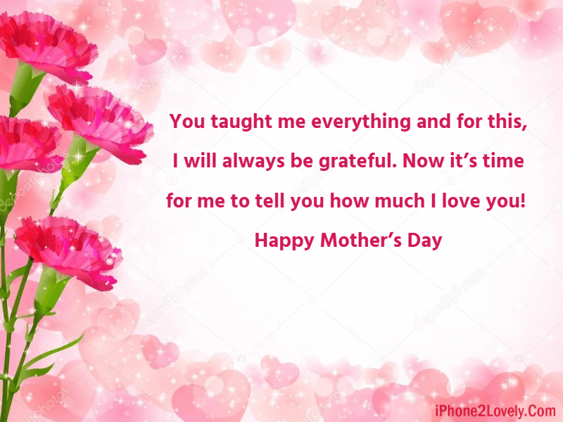 Mothers Day Wishes Greeting To Mom From Daughter