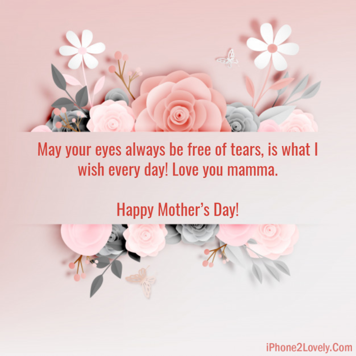 Mothers Day Greeting For Cards Wishes