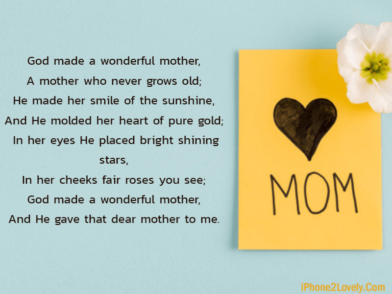 Poem For Lovely Mom For Mothers Day
