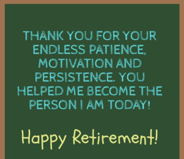 Retirement Quotes For Teachers In English