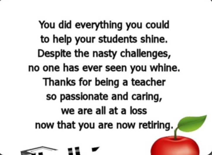 Teacher Goodbye Poems