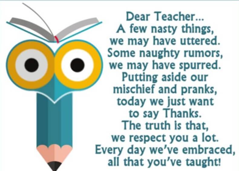 Teacher Retirement Poems