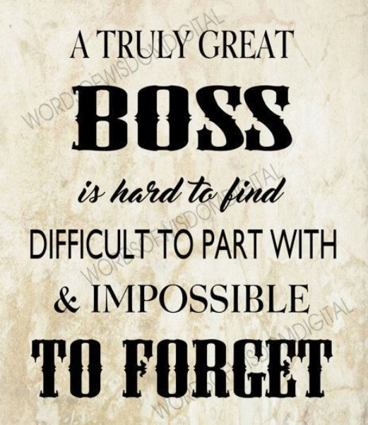 Short Retirement Quotes For Boss